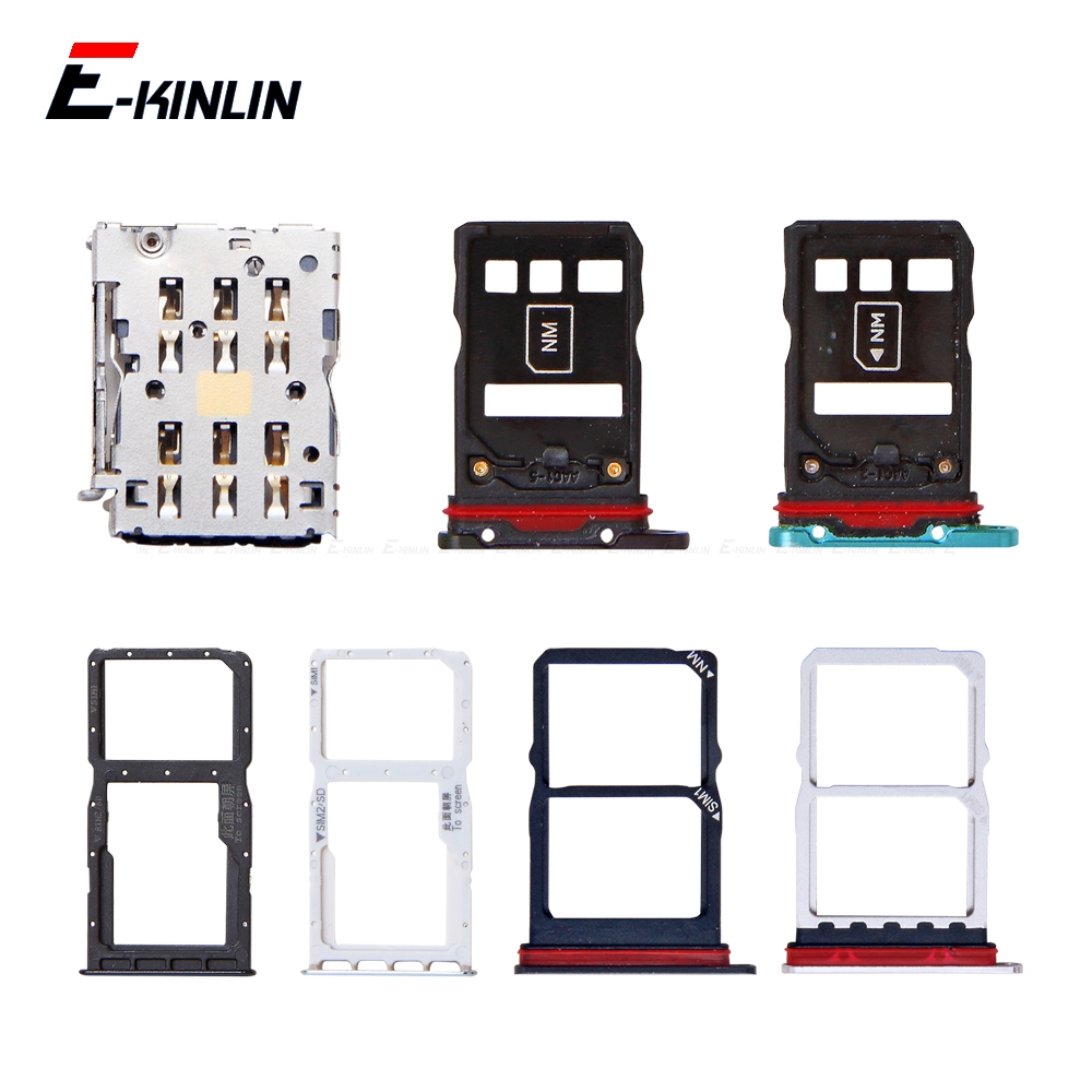 Sim Micro SD Card Socket Holder Slot Tray Reader For HuaWei P30 Pro Lite Adapter Container Connector Replacement Parts