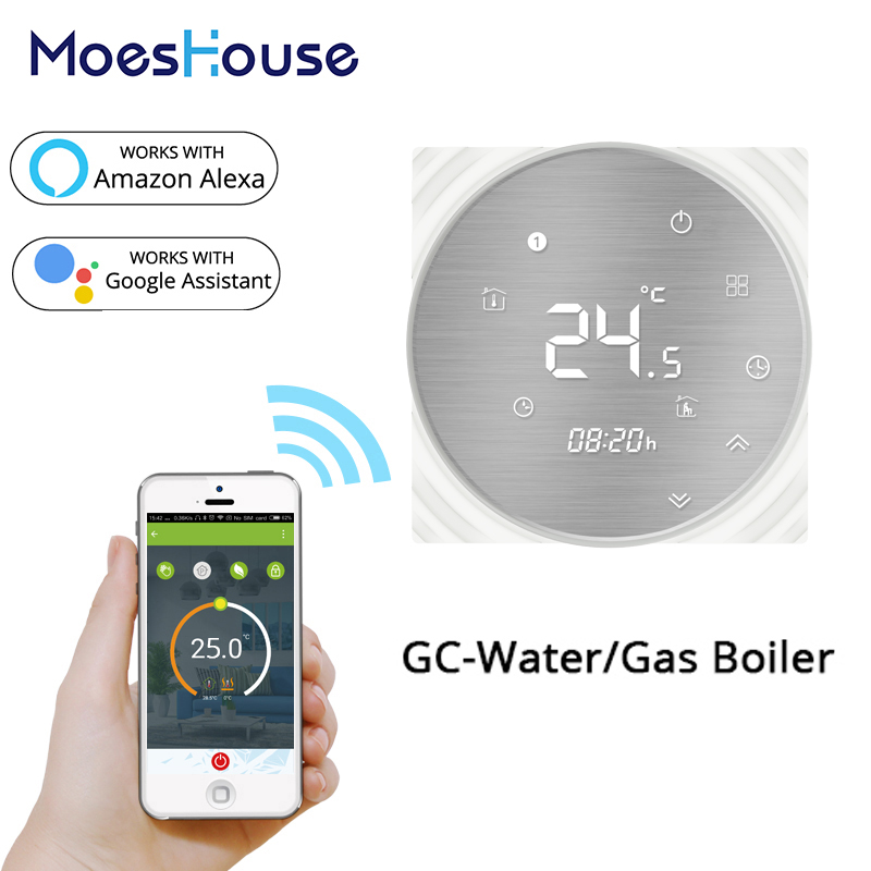 WiFi Smart Thermostat Water/Gas Boiler Temperature Controller Smart Life/Tuya Weekly Programmable Works With Alexa Google Home