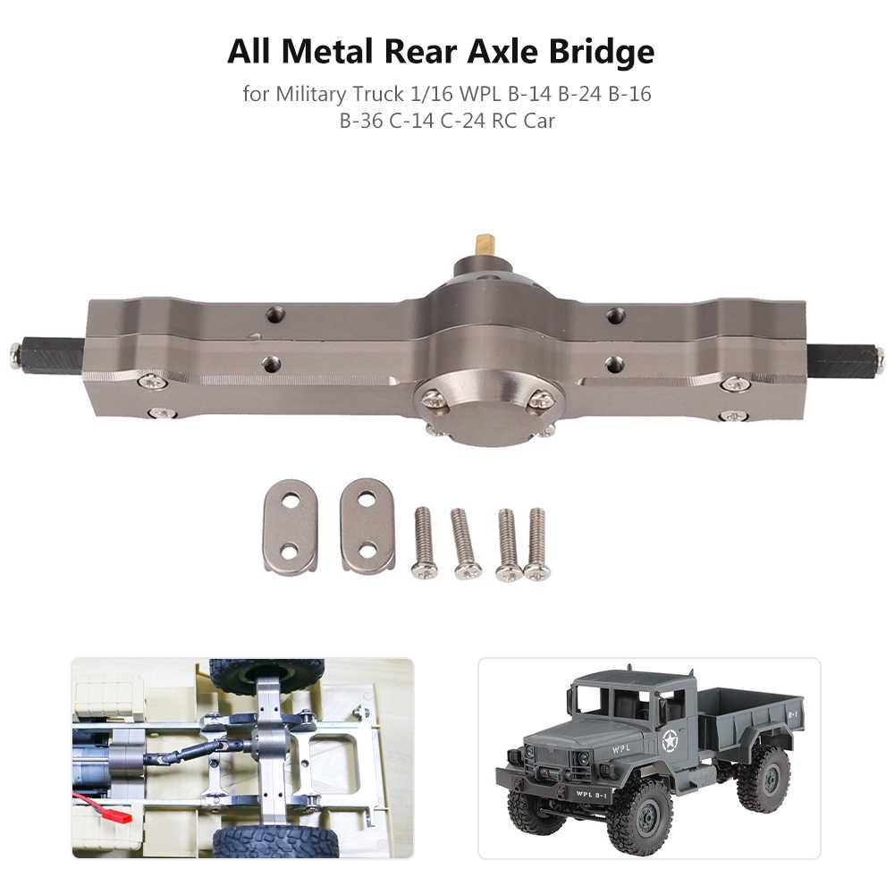 Metal Front Rear Bridge Axles for 1//16 WPL 4-Wheel Drive RC Cars Parts