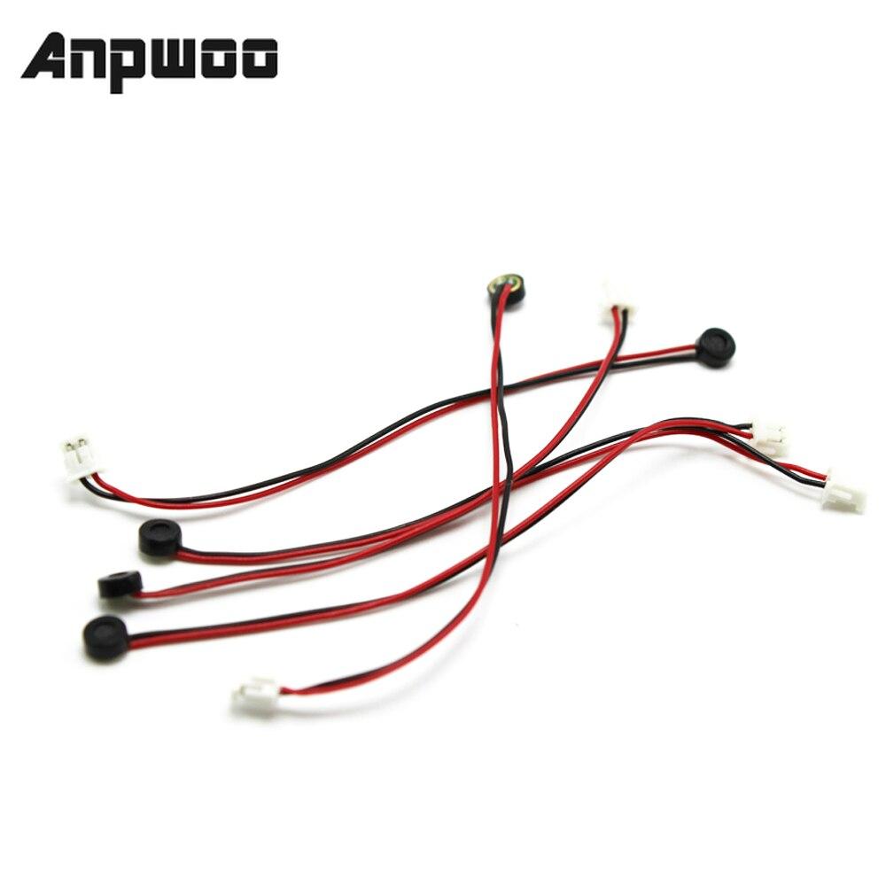 ANPWOO Mini Mic Sound Monitor Audio Pickup Device High Sensitive Tiny Microphone for CCTV Security Camera CCTV Microphone