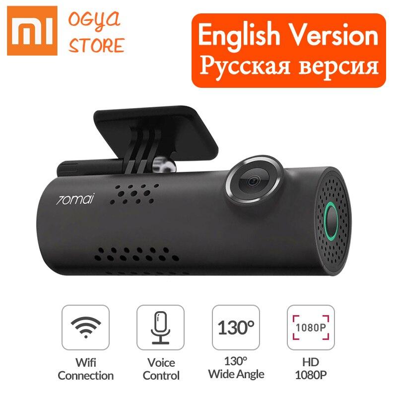 Xiaomi 70mai Dash Cam Wifi Автомобильный видеорегистратор камера 1080P HD ночного видения английское Голосовое управление Автомобильная камера Автомоби...