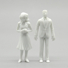 Teraysun Free shipping 100pcs miniature white figures 1;25 Architectural model human scale HO ABS plastic people