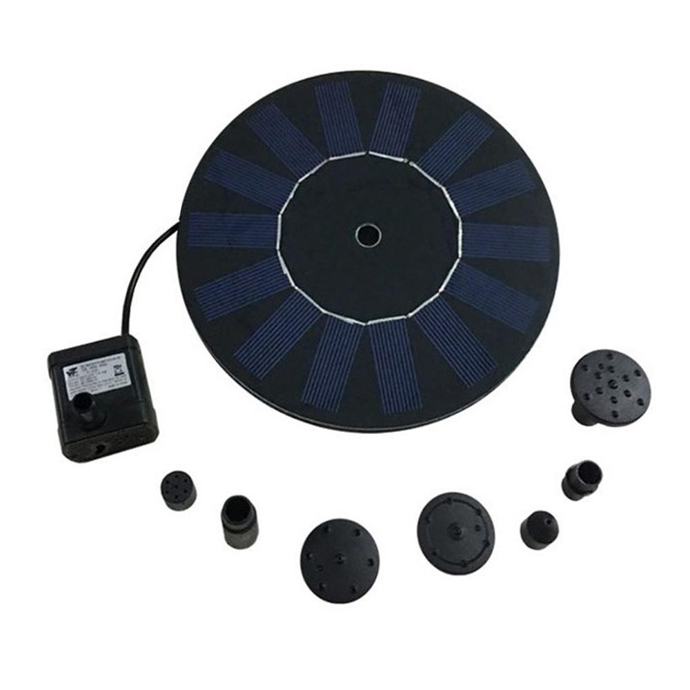 Practical Solar Power Water Fountain Pump Kit for Pool Garden Pond Watering Submersible Round Fountain Pump|Fountains & Bird Baths| |  - title=