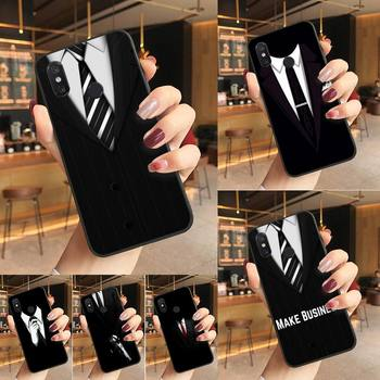 Yinuoda Cool black Man suit White Shirt Tie Phone Case Phone Case For Redmi K20 Note 5 7 7a 6 8 Pro note 8T 9 Xiaomi Mi 8 9 SE image