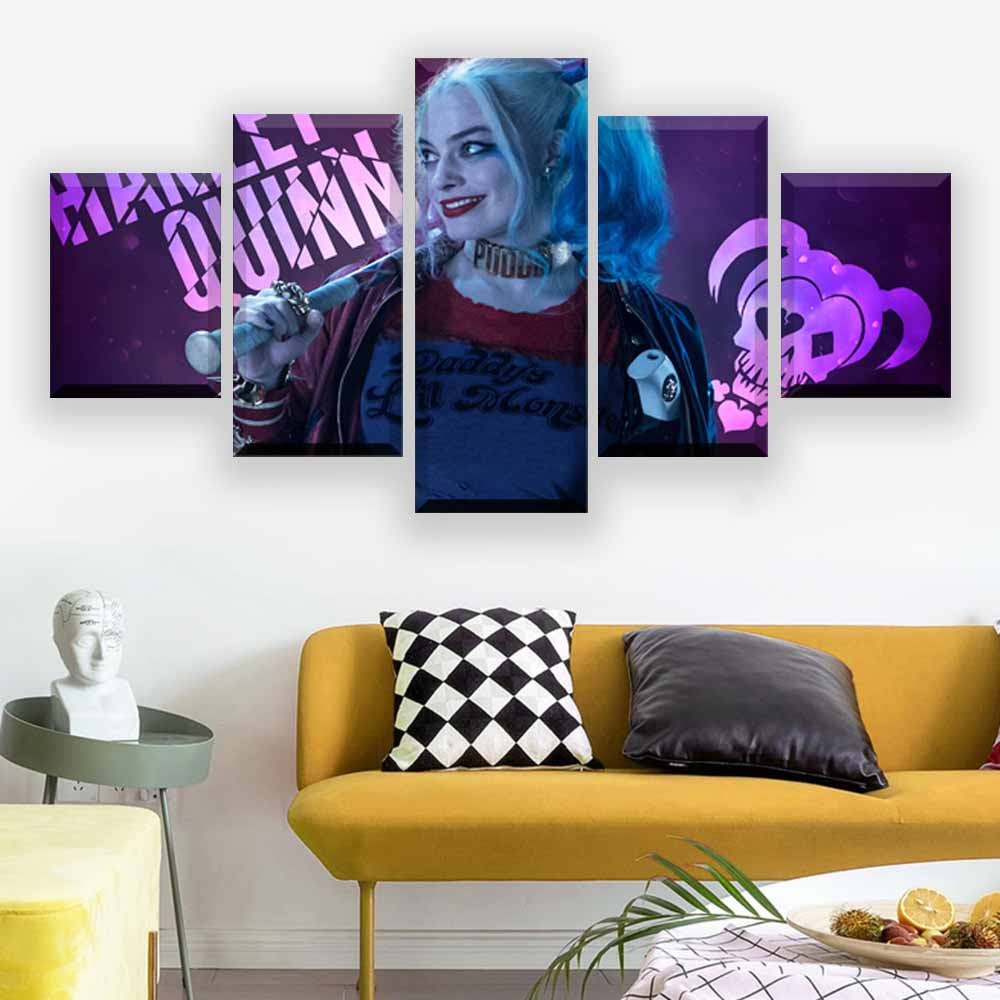 Harley Quinn Suicide Squad Superheroes Comic Silk Poster Canvas Print Wall Art