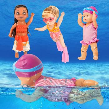 Small Baby Swimming Doll Toys Swim Water Pool Waterproof Smart Electric Movable Dolls Best Gift Bath Toy for Kid Girls Children