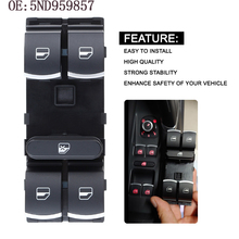4 Button Auto Windows Electric Control Switches Master Switch For VW Passat B6 3C Golf Touran Tiguan Jetta MK5 Caddy 5ND959857 durable automotive rear windscreen wiper for vw mk5 caddy golf passat touran essuie glace pac auto replacement parts