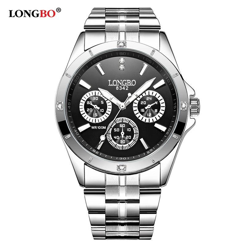 2019 LONGBO Brand Sports Military Wristwatch Couple Stainless Steel Band Quartz Watches Men Male Leisure Watch Relogio Masculino