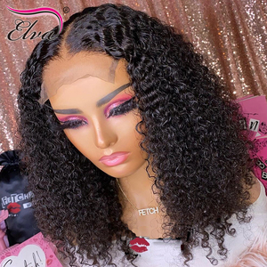Image 1 - Pre Plucked Lace Front Human Hair Wigs Baby Hair Curly Brazilian Lace Front Wig Bleached Knots 360 Lace Frontal Human Hair Wigs