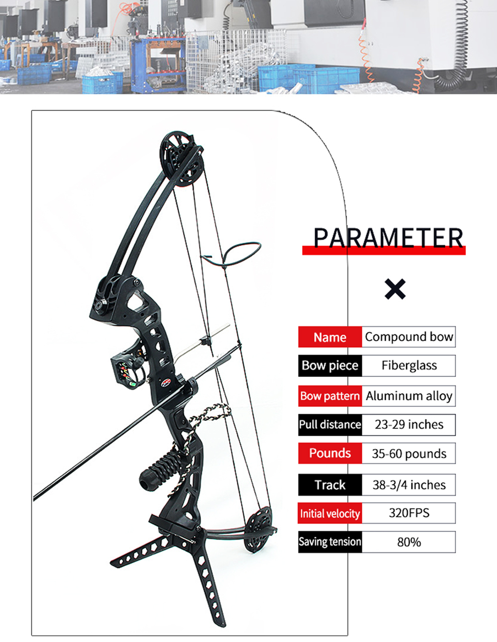 """16/"""" Mini Compound Bow Set 35lbs Arrow Bowfishing Hunting Archery Right Left Hand"""