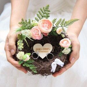 Альтернативный держатель для кольца птичьего гнезда, DIY свадебное украшение, подставка для кольца птичьего гнезда, простая свадьба