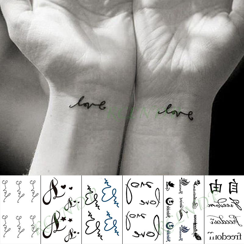 Waterproof Temporary Tattoo Sticker Heart Butterfly Cat Flower Forest Pattern Tatto Flash Tatoo Fake Tattoos For Girl Men Women