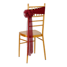 Cheap 50pcs/lot White/Red/Blue 12Colors Wedding Party Decoration Bow Tie Chair Sashes For Hotel Banquet Decor Lycra Chair Bands