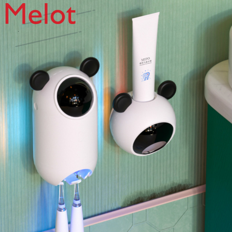 Smart Children's Toothbrush Sterilizer UV Punch-Free Bathroom Sterilization Wall-Mounted Shelves Electric Suction Wall