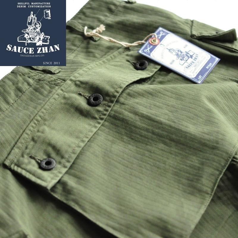 SauceZhan USMC P44 HBT Estados Unidos ejército pantalones VINTAGE estilo militar pantalones militares hombres pantalones casuales hombres Pantalones-in Pantalones casuales from Ropa de hombre    3
