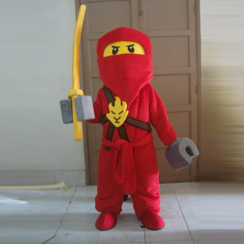 Vêtements de mascotte Ninja taille adulte ventes d'usine de mascotte ninja