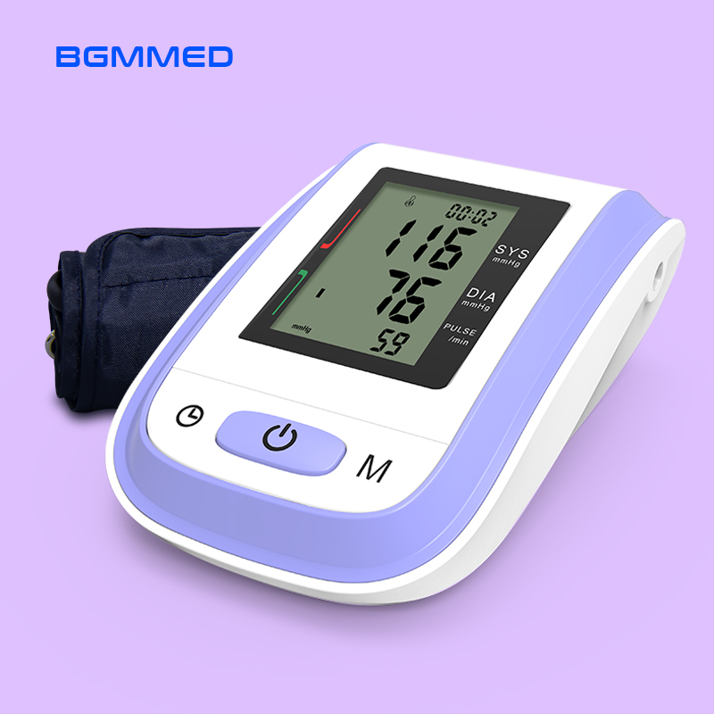 Medyczny cyfrowy LCD górny ciśnieniomierz na ramię maszyna mierząca rytm serca tonometr do pomiaru automatycznego
