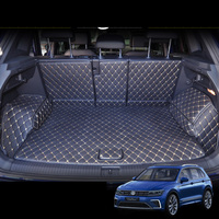 lsrtw2017 leather car trunk mat for volkswagen tiguan 2016 2017 2018 2019 2020 2nd vw cargo liner