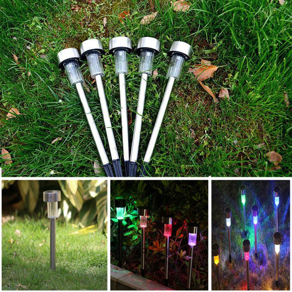 12PC Solar Garden Light Outdoor LED Solar Powered Lamp Lantern Waterproof Landscape Lighting For Pathway Patio Yard Lawn#GH