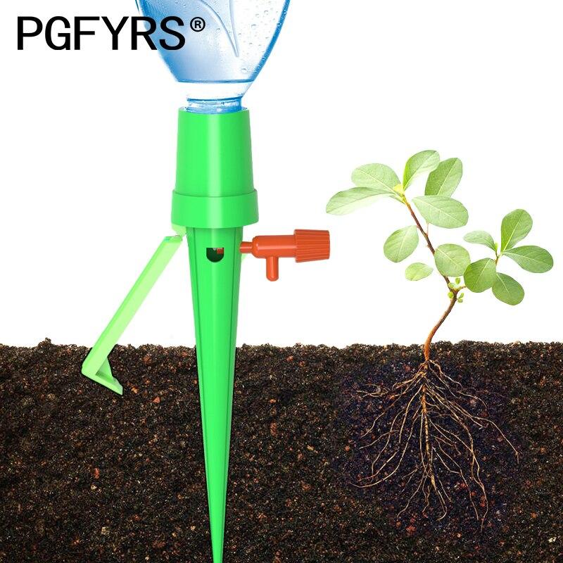 12 stücke Upgrade Garten Tropf bewässerung system topfpflanze Automatische bewässerung gerät Einstellbar Tropf geschwindigkeit Faul mann bewässerung kit