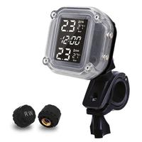 Waterproof Wireless Tire Pressure Monitoring Motorcycle System TPMS Tires Motor Fatbike Bicycle Auto Tyre Alarm