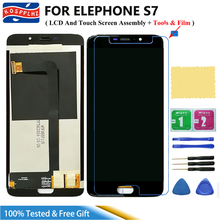 100% Tested For Elephone S7 LCD Display and Touch Screen Digitizer Assembly New Replacement Repair Panel + Tools + Film