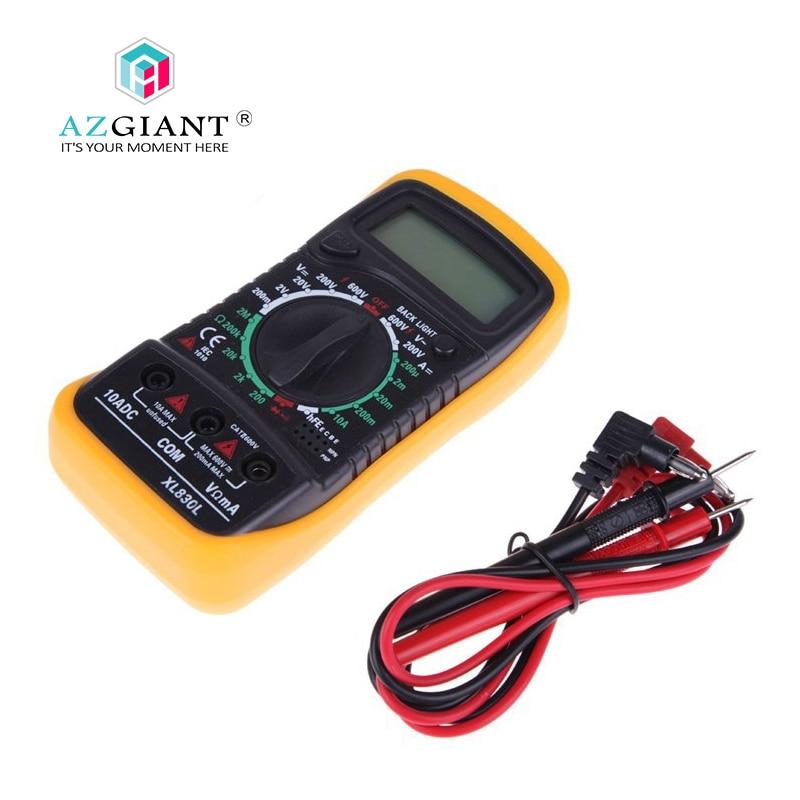 AZGIANT XL830L Digital Multimeter Portable Multi Meter AC/DC Voltage Meter DC Ammeter Resistance Tester