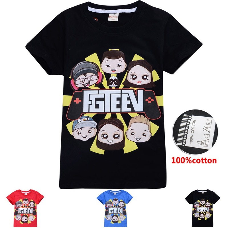 New Big Boys Fgteev The Family Game T-shirts For Girls Kids TShirts Short Sleeve Tees Children FGTEEN Funny Grinch 8 12 Tops