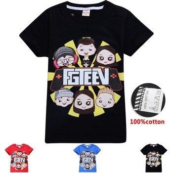 New Big Boys fgteev the family game T-shirts for Girls Kids TShirts Short Sleeve Tees Children FGTEEN funny grinch 8 12 Tops
