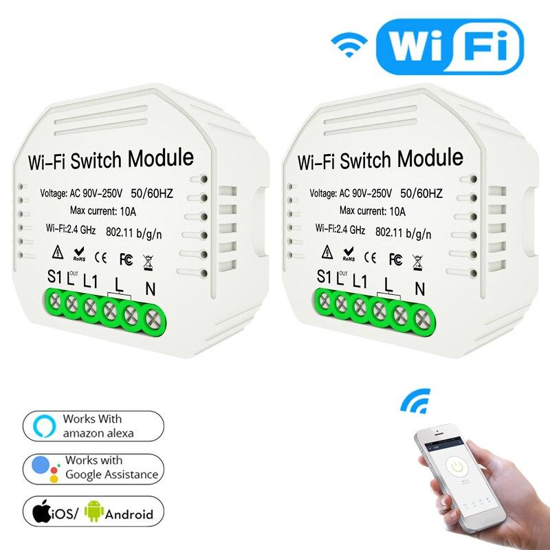 Smart interruptor Wifi Switch module Smart Life Tuya Switch Smart Home Breaker Module Alexa Amazon google home home automation