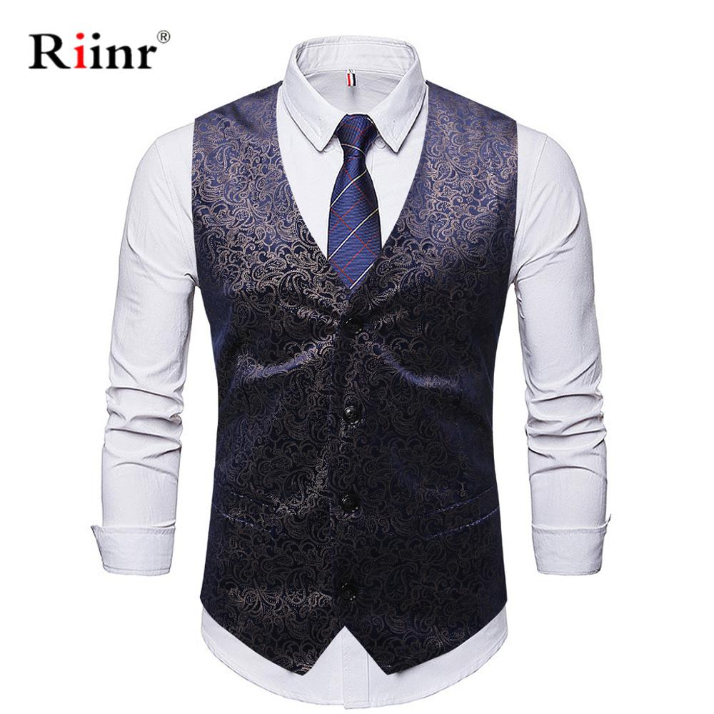 Riinr Mens Classic Red Navy Solid Jacquard Waistcoat Vests Vintage Tweed Vest Fashion Spring Autumn Plus Size Waistcoat