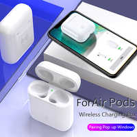Wireless Charging Case For AirPods With Pairing Pop up Windows Qi Charger Replacement For Air pods 1 2 Airpod Charging Case Box
