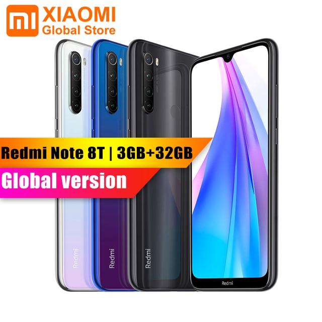 Version mondiale Xiaomi Redmi Note 8T 3GB 32GB 6.3 Smartphone NFC Snapdragon 665 48MP appareil photo 18W Charge rapide 4000mAh téléphone portable