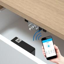 2/1 pces bloqueio de gaveta inteligente armário inteligente ic/id cartão tt bloqueio app desbloquear eletrônico escondido móveis fechadura da porta de madeira