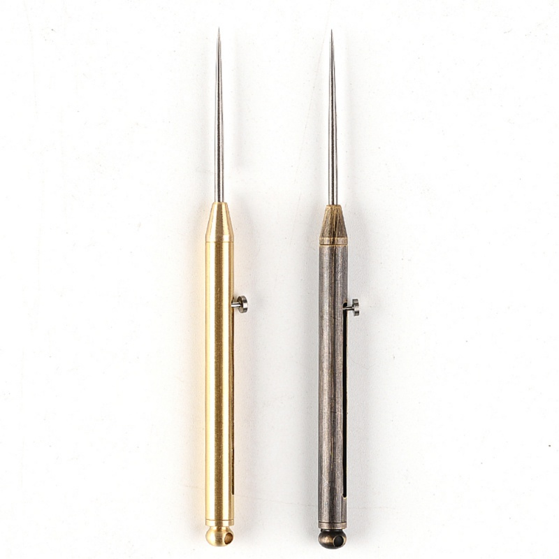 Titanium Alloy Push-pull Spring Toothpick And Protective Shell Ultra-Light Portable Multi-Function Outdoor Tools.