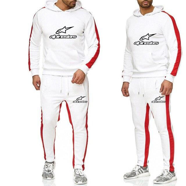 Men's Hoodie Trouser Set printing Sportswear Tracksuit Men's Pullover Sweatshirtr Hoodie + Sports Pants Jogging Men's Hoodie
