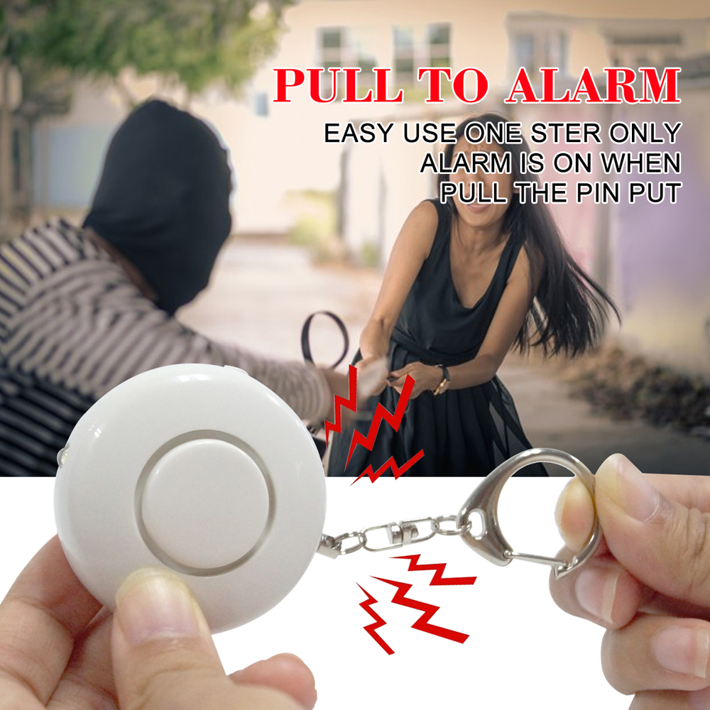 Pripaso Portable Pocket Personal Alarm Anti-rob Self Defense Alarm Attack Protection Key Chain With LED For Girl Kids Elder