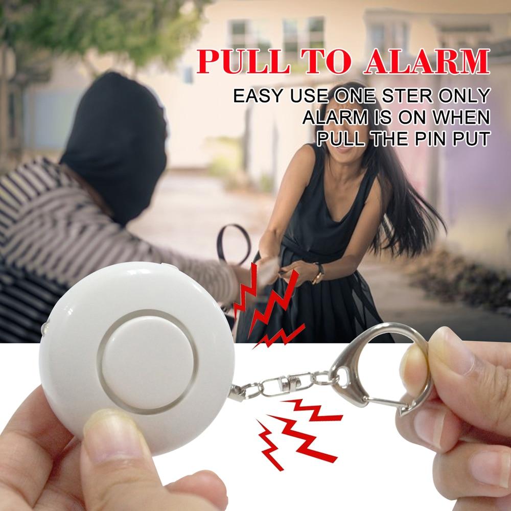 Pripaso Portable Pocket Personal Alarm Anti-rob Self Defense Alarm Attack Protection Key Chain With LED For Girl Kids Elder