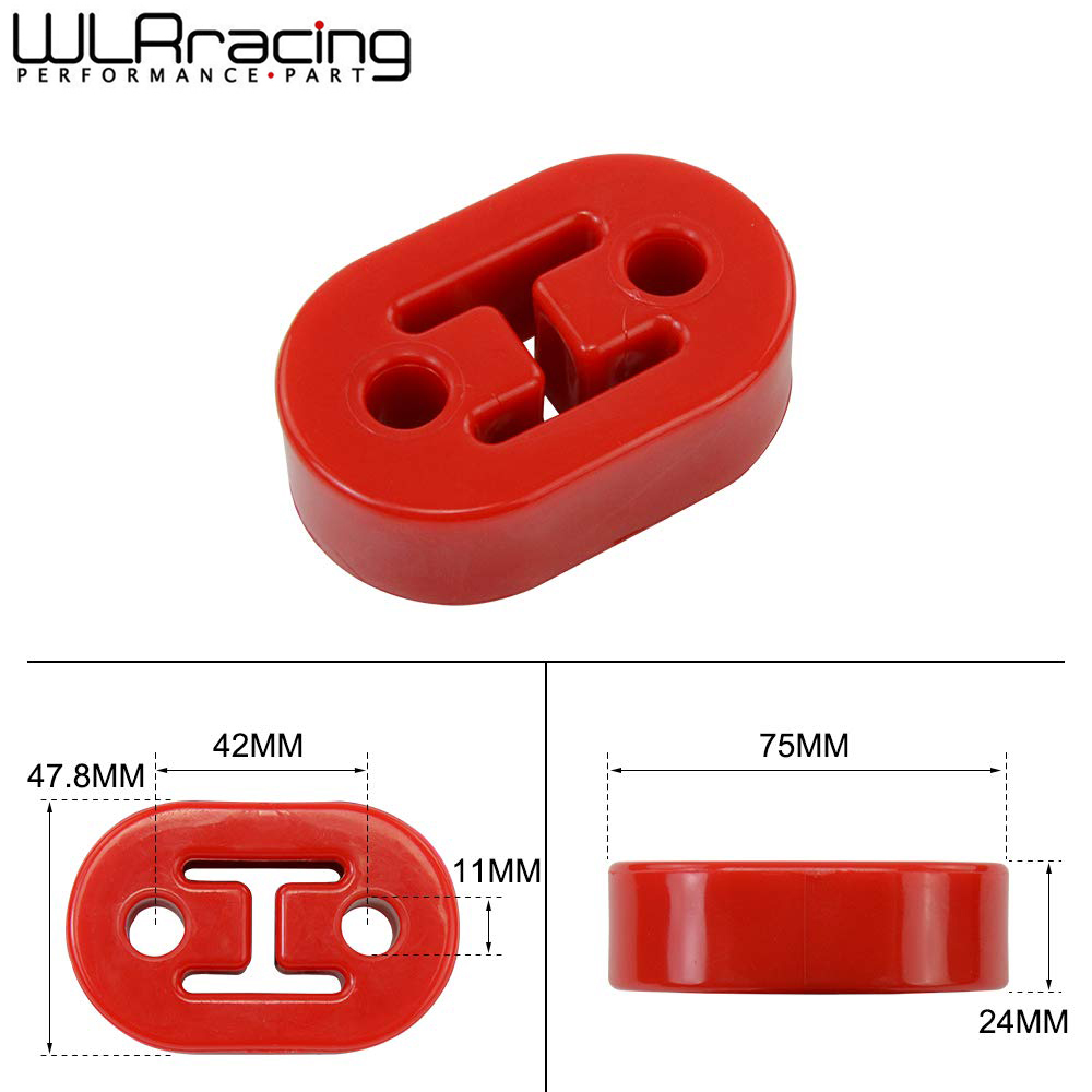 WLR - Diameter 11mm 2 Holes Universal Car Rubber Exhaust Tail Pipe Mount Brackets Hanger Insulator WLR8952