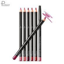Pudaier 6PCS/Set 6 Colors Lip Liner Set Matte Lipliner Pencil Waterproof Nude Lip Liner Mak