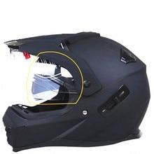 Moto rcycle шлем с солнцезащитным щитом atv road cross moto cross шлем с двойными линзами внедорожные гоночные мото шлемы