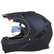 Kask motocyklowy z osłona przeciwsłoneczna Atv Road Cross kask motocrossowy podwójny obiektyw Off wyścigi drogowe Moto kaski
