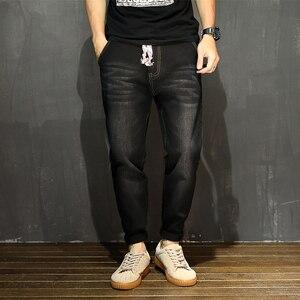 Image 2 - גברים ג ינס מכנסיים הרמון מכנסיים M 7XL גדול גודל Demin Loose נוח מכנסיים קלאסי היפ הופ פאנק סיבתי יומי בגדים