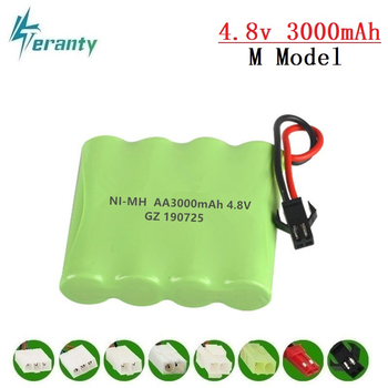 цена на 3000mah 4.8v Rechargeable Battery For Rc toys Cars Tanks Robots Gun NiMH Battery AA 4.8v 2400mah Batteries Pack For Rc Boat 1PCS