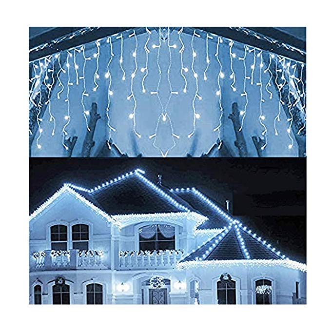 2020 New Year's LED Curtain Garland On The Window Christmas Lights 4M/5M Fairy Lights For Street Garland Christmas Decoration