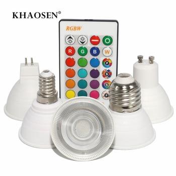 E27/E14/GU10/GU5.3 RGBW RGBWW 16 Color Changing Magic Led Bulb 3W 85-265V RGB Led Lamp Spotlight + IR Remote Bulbs 110V 220V 2 4g wireless mi light led bulbs 85 265v dimmable gu10 e27 led lamp 4w 6w 9w rgbw rgbww led light bulb