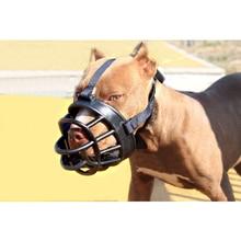 Мягкий силиконовый ПЭТ предотвращает укусы лай собака мордочка безопасности Собака Рот маска вентилируемая ПЭТ кора укуса крышка избегайте есть неправильно