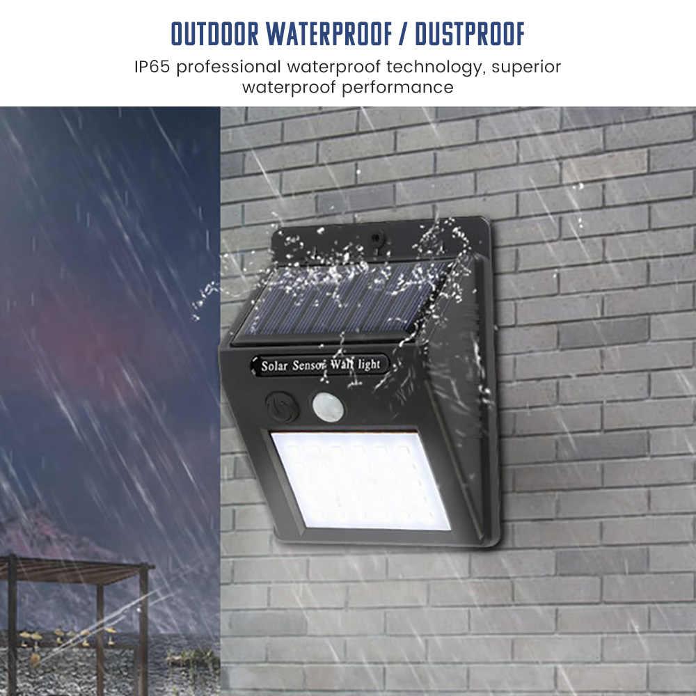 SUNYIMA 30 LED al aire libre lámpara Solar de pared a prueba de agua PIR Sensor de movimiento Luz de jardín Solar Powered Spotlight Luz de calle de la luz Solar