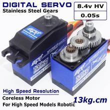 Spt5613 servo digital alta resolução, 13kg 0.05s, engrenagens de metal, super alta velocidade, padrão, para carros de drift 1:10 1:12 avião
