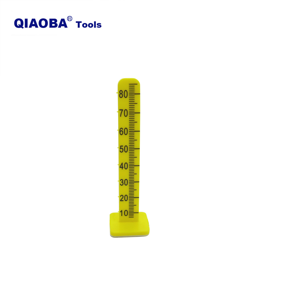 80mm Floor Yellow Economy Level Pegs For Cement Measure Poured Self Leveling Pins 50 Pack